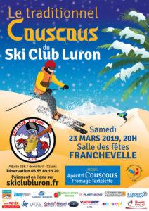 Affiche Couscous Ski Club Luron